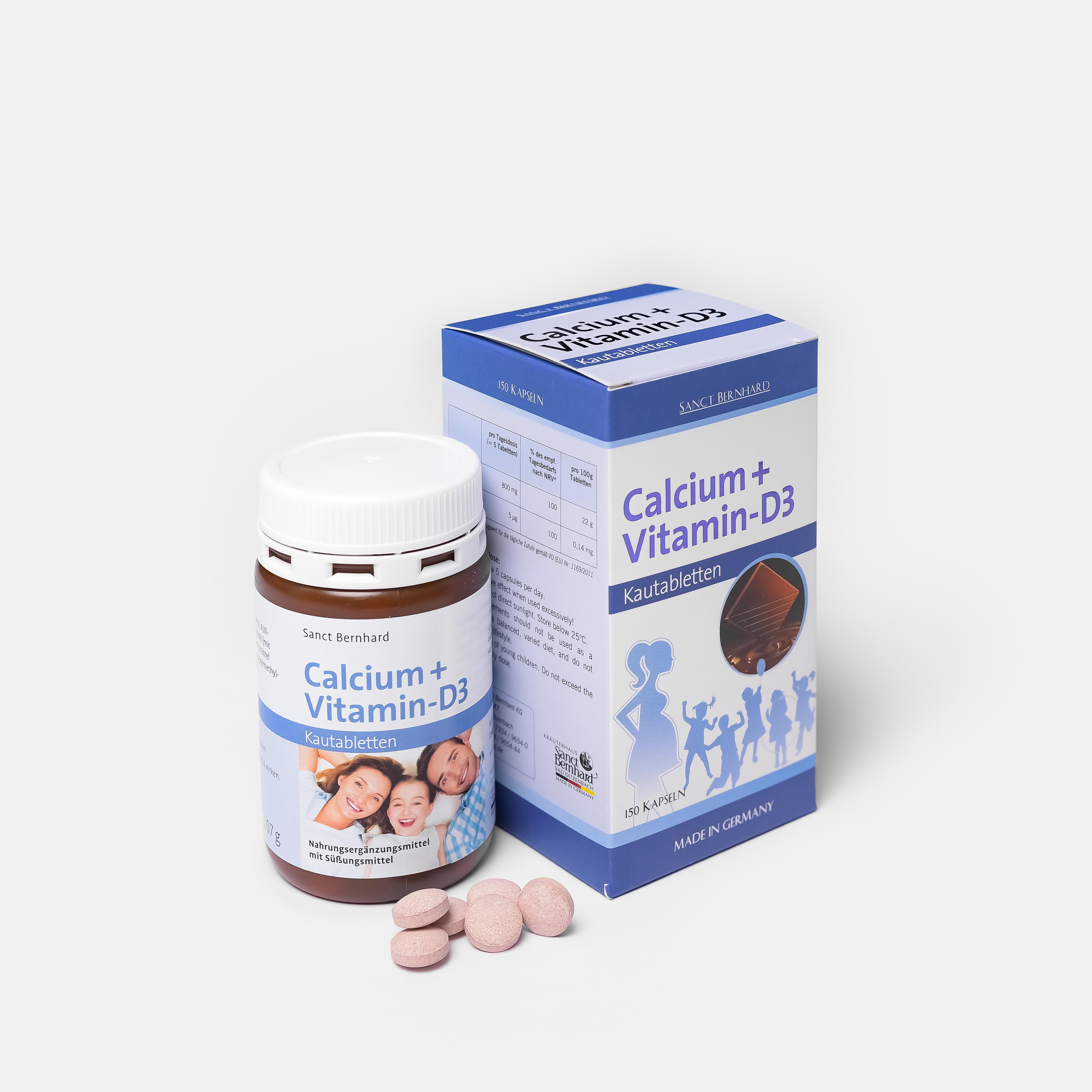 CALCIUM + VITAMIN - D3 - Canxi Socola